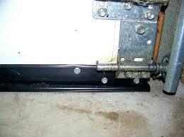 garage door bottom seal for uneven floor medium size of garage door draft dodger doors bottom