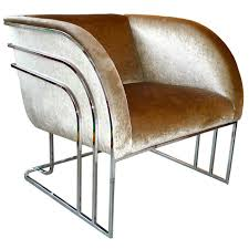new art deco furniture. milo baughman chrome art deco club chair new furniture