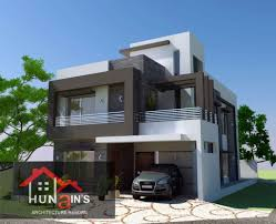 6 Marla House Front Design Contemporary House Design By Hunains Architecture 10