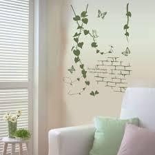 modern korean furniture. delicate parlor art korean modern living room green rattan vines butterfly pvc decorative wall sticker simple furniture