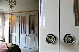 diy french sliding closet doors door update how to your old bifold use double match decor