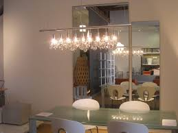 linear crystal chandelier from design within reach with swarovski crystal pendants