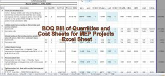 Maybe you worked on it for hours, finally giving up because the data output was wrong or, the function was too complicated, and it seemed simpler to count the data yourself manually. Engineering Xls Boq Bill Of Quantities And Cost Sheets For Mep Projects Excel Sheet