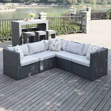 patio couch set. Outdoor Patio Sectional Luxury Handy Living Aldrich Grey Indoor 5 Piece Set Of Couch