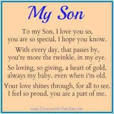 Love My Son Quotes Simple Cute For My Son Quotes On QuotesTopics