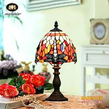 small tiffany style lamp vintage stained glass bedroom bedside corner table desk red dragonfly lamps for small tiffany style lamp