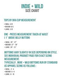Size Charts Bikini Sizing Information And Helpful Guide