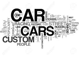 Word Cars Why Are Custom Cars Popular Text Word Cloud Concept Royalty Free