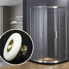 25mm 27mm shower glass door single bottom wheels bathroom glass shower door roller replacement