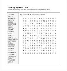 Army Phonetic Alphabet Chart Sample Military Alphabet Chart 6 Free Documents In Pdf Word