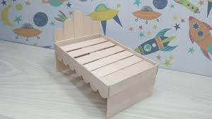 how to make wooden doll bed using popsicle stick diy ice cream stick bed