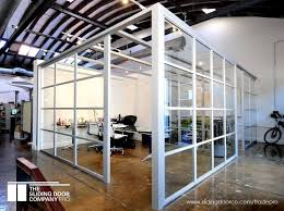 open air glass office partition