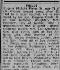Obituary for Eugene Fields (Aged 75) - Newspapers.com