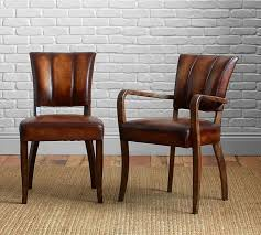 ivory leather dining room chairs astounding elliot leather chair pottery barn on dining chairs with