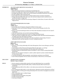 Servicing Manager Resume Samples Velvet Jobs