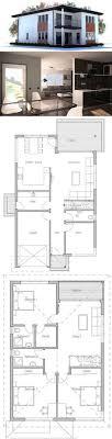 modern narrow house floor plans