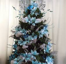 Enchanting Blue And Silver Christmas Tree