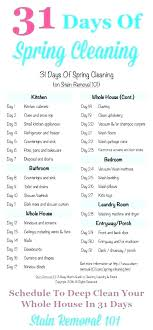 Weekly House Cleaning Schedule Winefrolleins Info