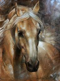 horse painting head horse 2 by arthur braginsky