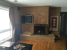 50's Floor to Ceiling Fireplace Update