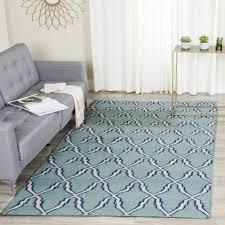 safavieh dhurries dhu564b 5 x 8 light blue ivory rug