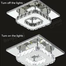 modern square chandelier modern square crystal led ceiling light fixture pendant lamp with regard to amazing home crystal led light decor gisela modern