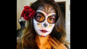 sugar skull makeup tutorial dia de los muertos 2016