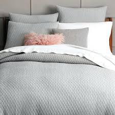 light grey duvet cover organic ripple texture duvet cover shams platinum west elm regarding light grey