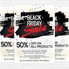 Sales Flyer Templates Photoshop Sales Flyer Templates Black Friday Sale Premium Flyer