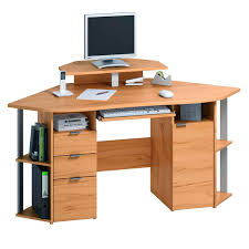 Wooden Small Modern Corner Computer Desk With Drawer