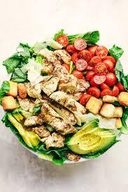 grilled chicken salad. Unique Chicken Grilled Chicken Caesar Avocado Salad And S