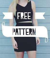 Crop Top Pattern Interesting Me Sew CROP TOP HIGH WAISTED SKIRT FREE PATTERNS Sewing
