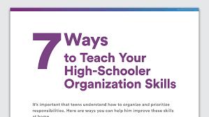tips for disorganized teenagers organization skills in high school