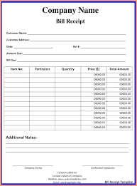 sample of cash bill bill receipt template format for cash sample of memo avery