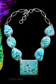 large natural turquoise multi pendant