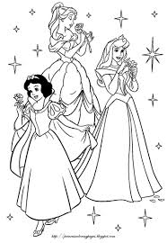 Free Color Pages For Princess Ot Pediatric Land Disney