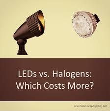 leds vs halogen led bulbs have become widely used for landscape lighting