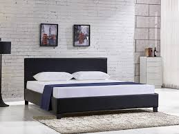 SUPER KING Slat PU Bed with Headboard