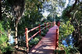 bridge in magnolia plantation gardens south ina