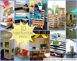 Pallet Kitchen Furniture 10 Pallet Furniture Ideas Diy Cozy Home