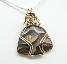 biggs jasper wire wrapped pendant