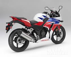 honda motorcycles 2015. studio rear 34 rightside view pearl whiteredblue honda motorcycles 2015