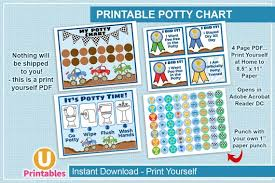 Printable Potty Chart Instant Download Potty Training Charts Monster Trucks Potty Chart Bathroom Monster Truck Reward Chart Toilet