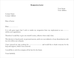 pdf format resignation letter template free download format for resignation letter