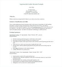 Cashier Resume Responsibilities For Examples Retail Thekindlecrew Com