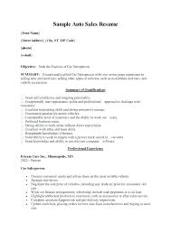 Car Salesperson Resume – Andaleco