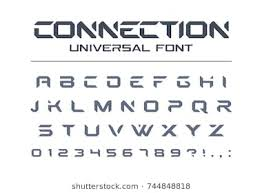 technology connect universal font geometric aggressive sport futuristic future techno alphabet