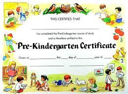 Kindergarten Certificate Template T Classic Diploma Pk