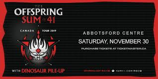 Abbotsford Centre Seating Chart The Offspring And Sum 41 Jack 96 9