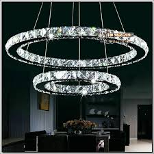 modern diy design led chandelier light fixture circle round 2 rings for pendant md8825